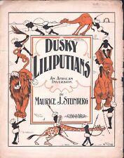 Dusky Lilliputians 1900 Large Format Sheet Music