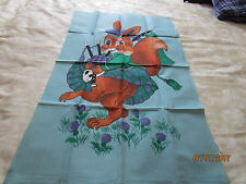 ALL COTTON TEA TOWEL - BAG PIPE PLAYING SQUIRREL