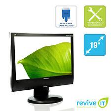 "ViewSonic VG1932wm-LED 19"" Widescreen 1440x900 LED LCD Monitor DVI VGA Grade B"