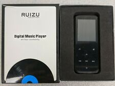 Ruizu Digital Music Player (MP3, Voice Recording, Black) 8GB