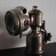 """ANTIQUE FRENCH BICYCLE LAMP """"LUXOR"""" CARBIDE"""