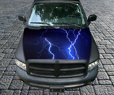 H101 LIGHTNING Hood Wrap Wraps Decal Sticker Tint Vinyl Image Graphic