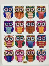 16 Assorted Cute Owls Stickers Kids Scrapbook Card Envelope Sealing IQ Game