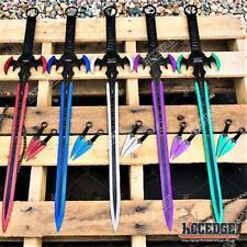 "29.75"" Hero Edge Fantasy Sword + 2 Knives Technicolor Short Sword"