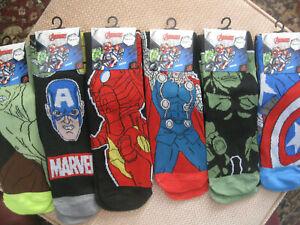 Marvel Comic's Avenger Men's socks,size 6-11, 6 designs