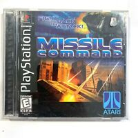 Missile Command Sony PlayStation 1 1999 CIB Complete Video Game Tested PS1 Atari