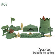 100pcs Military Soldiers Army Men Figures 12 Poses Aircraft Tanks Kids Toy #06 Bunker