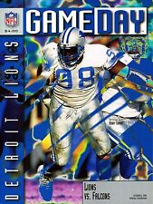 1996 Detroit Lions Home vs Atlanta Falcons NFL Football Program
