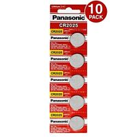 Panasonic CR2025 3 Volt Lithium Coin Battery (10 pcs) - Tracking Included!