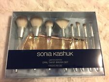 NIB Sonia Kashuk Limited Edition Opal Twist 8pc Brush Set Case Holiday 2018