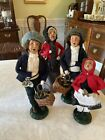 Byers Choice Carolers Lot Of 4 Cries Of London Candlestick