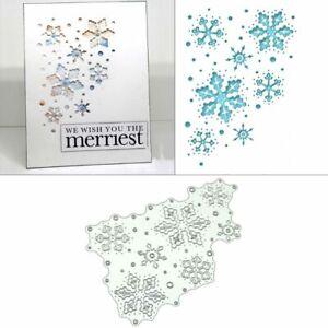 Christmas Snowflakes Metal Cutting Dies Stencil Scrapbooking Album Card Crafts
