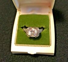 Simulated Diamond Ring Sterling Silver Size 8   Engagement
