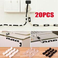 Gadget 20 clip trasparenti organizer per cavi con adesivo 3M