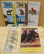 6 VINTAGE HORSE TRACK RACING BETTING PROGRAMS CHURCHILL DOWNS KENTUCKY DERBY +++