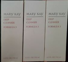 Mary Kay Deep Cleanser Formula 3 Oily Skin 6.5 fl oz - Lot of 3