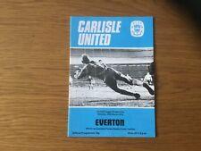 More details for 1974-75 carlisle united v everton football league division one football programm