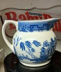 Spode+Blue+Willow+cream+pitcher+Made+in+England+3%22