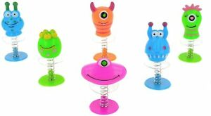 12 X Pop Up Jumping Monster Childrens Party Bag Fillers  Toy Party Favour