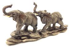 Elephant Pair Statue Figurine Ornament Sculpture Home & Garden Décor *22 cm*