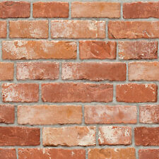 Red Brown Brick Look Contact Paper Prepasted Wallcovering Home Peel and Stick
