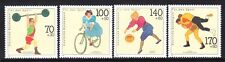 Germany B701-04 MNH 1991 Weight Lifting, Cycling Basketball & Wrestling Sports