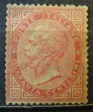 REGNO 1863 DLR LONDRA 40 CENTESIMI CARMINO NUOVO SENZA GOMMA