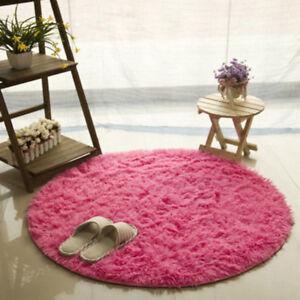 Round Blanket Footcloth Rug Non Slip Machine Washable Mat Yoga Bedroom Holders