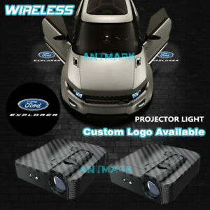 Wireless Car Door Projector Explorer Logo Welcome LED Step Shadow Light For Ford