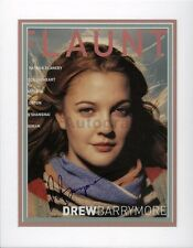 Drew Barrymore - American Film Actress - Authentic Autographed Matted Display