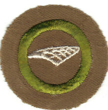 BOY SCOUT AIRPLANE STRUCTURE SAND FINE TWILL MERIT BADGE (TYPE D) 1942-1946