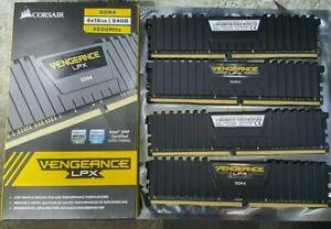 64GB KIT CORSAIR VENGEANCE LPX 3000MHz CL16 DDR4 QUAD-CHANNEL MEMORY/RAM