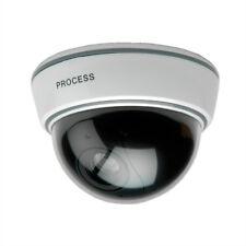 Dummy Dome Kamera mit LED-Blinklicht, weiß, Einsatz in Innenräumen