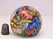 Scrambled Latticino & Twisted Candy Canes Murano/Venetian Glass Paperweight