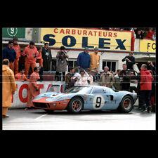 Photo A.013736 FORD GT40 MK1 RODRIGUEZ-BIANCHI 24 HEURES DU MANS 1968 LE MANS