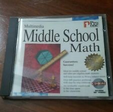 Pro One - Multimedia Middle School Math Review PC CD (Student learn study Test)