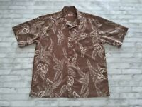VTG 90s Rip Curl Men's Short Sleeve Button Front Floral Hawaiian Shirt Brown XL