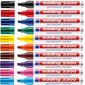 Edding 3300 Permanentmarker Marker mit Keilspitze 1-5mm,Nachfüllbar Farbe wählen