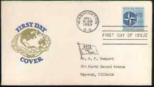 US. 1127. 4c. NATO Issue. Cachet FDC. 1959