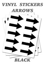 1000 Black Arrow Shaped Stickers Self Adhesive Vinyl Labels size 30mm x 15mm