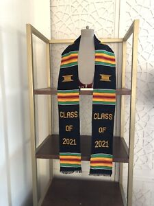 Graduation Stole Kente Class Of 2021 Handwoven Kente Sash