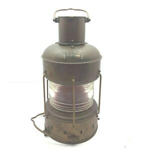 Vintage Oil Lantern Nippon Sento Marine Nautical Brass Rad Light Japan Since1974