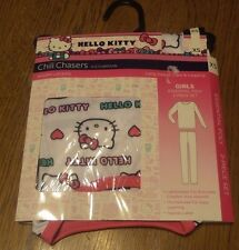 Sz XS 4/5 Girls HELLO KITTY Cuddl Duds LONG UNDERWEAR pants shirt Chill Chasers