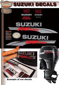 SUZUKI 140hp FOUR STROKE Decals 2006-2009 Models