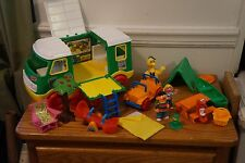 HUGE LOT Sesame Street Camper w/ Tons of Accesories, Figures, Furniture, and mor
