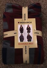 Woolrich Women's Reversible Fleece Blanket Wrap Merlot color