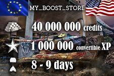 World Of Tanks(WOT) | 40 MIL| 950.000 XP | 8-9 days | NOT BONUS CODE |