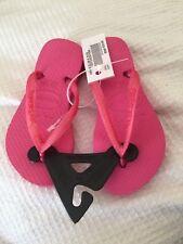 Brand New Baby Girls Pink Slim havaianas Size 23-24 Usa 9 C