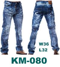 SIZE: W36 L32 KOSMO LUPO Straight-Cut- PANTALON JEANS PANTS JEANSHOSE