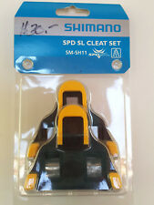 Shimano SPD-SL Road Pedal Cleats SM-SH11 Yellow Floating